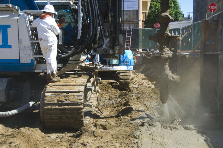 Soil mixing single point malcolm drilling for Soil xat cut off